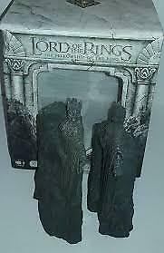FELLOWSHIP OF THE RING DVD Gift Set Statues Bookends Lord Of The Rings AS NEW!