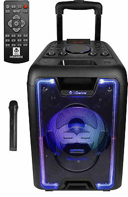 "iDance ""MEGABOX 1000"" Tragbare Sound & Light Bluetooth & USB/MicroSD Partybox"