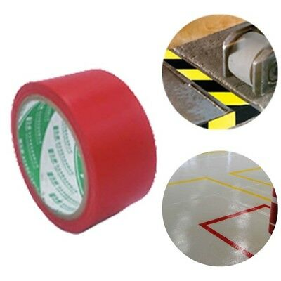 59 Feet Warning Tape Warehouse Floor Safety Caution Barrier Waterproof PVC Red