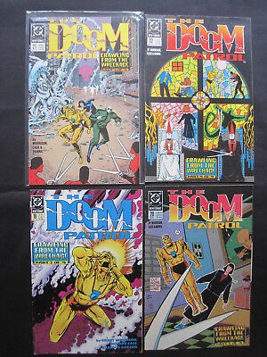"""DOOM PATROL 19,20,21,22 """"CRAWLING FROM THE WRECKAGE"""" by GRANT MORRISON,CASE.1989"""