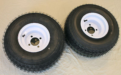 "Lot Of 2 - 18x8.50-8 Lrb 4 Pr Sbieco Golf Cart Tire su 8 "" 4 Manico Bianco"