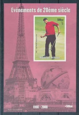 181565) Guinea ** Blockausgabe Golf Tiger Woods