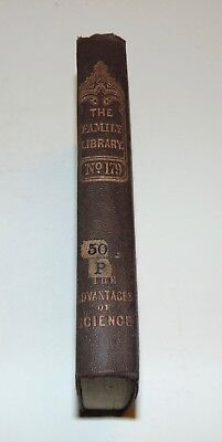 ANTIQUE Book 1848 DISCOURSES ON SCIENCE & LITERATURE Family Library