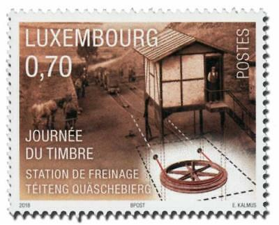 Luxemburg 2018  national stamp day  horse train        mnh G