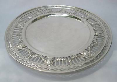 Durgin Brand-Chatillon Sterling Silver Reticulated 11 In. Tray Platter 436 Grams