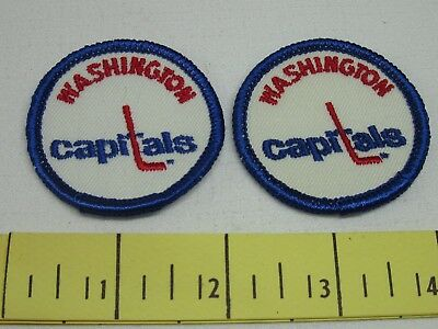 Washington Capitals Vintage Cloth Patches 1970's Two Inch New Old Stock Original