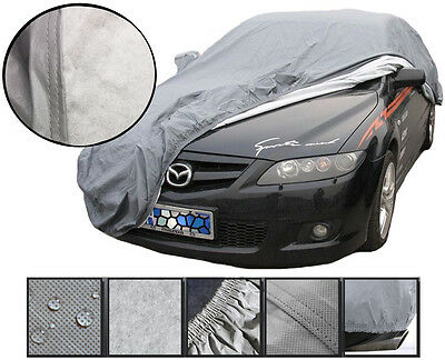 Heavy 2KG Waterproof Medium M 2 Layer Full Car Cover Breathable Protect Outdoor
