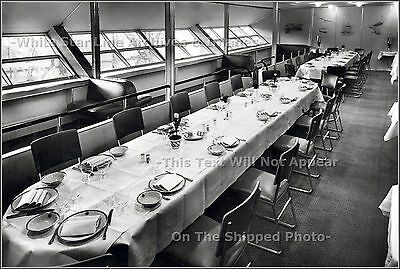 "Photo: 5"" x 7"": Dining Room Of LZ129 AKA Hindenburg With Port Promenade"