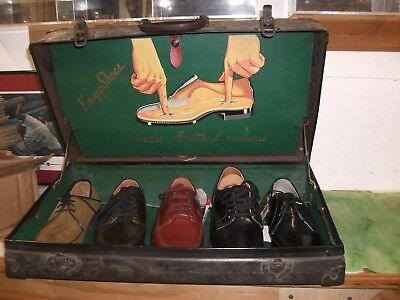 Vintage   Knapp  Shoes  Salesmans  Display  Case  ( 22x12x7 )   Lot # MD.