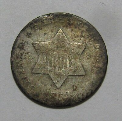 1853 Three Cent Silver - Circulated Condition - 29SA-2