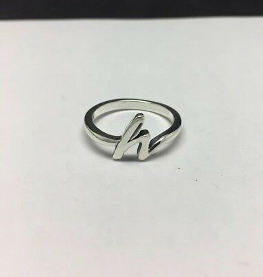 Sterling Silver Hope Script Statement Thick Ring Size 7