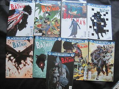 ALL STAR BATMAN issues 1,2,3,4,5,6,7,8,9. DC UNIVERSE REBIRTH 2016 SERIES.SNYDER