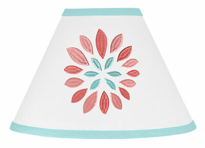 Lamp Shade For Sweet Jojo Designs Turquoise Coral Floral Bedding Set Lampshade