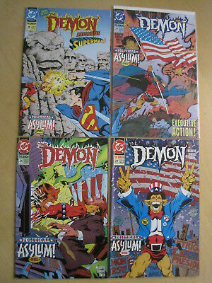 """The DEMON 26,27,28,29 """"POLITICAL ASYLUM"""" : COMPLETE 4 ISSUE STORY.DC 1990 SERIES"""