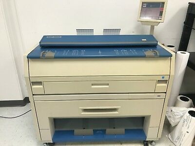 KIP 3000/3100 LOW METER Wide Format Plotter 2 Roll Print, Scan, Copy