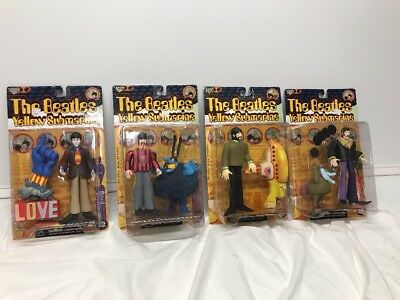 "McFarlane ""THE BEATLES"" Yellow Submarine Set Of 4 LOOK NEW 1999"