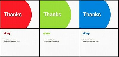 """100 Ebay Branded Glossy Thank You Postcards 4-Color Multi-Pack  ~ 5.5"""" X 4""""  ~"""