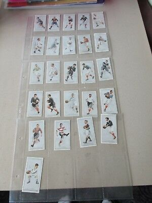 Reproduction Set of  F & J Smith Prominent Rugby Players 25 Cards 1992