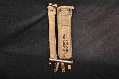 WWII 1903 & M1 Carbine Cleaning Rods With Pouches & Buttstock Cleaning Kits