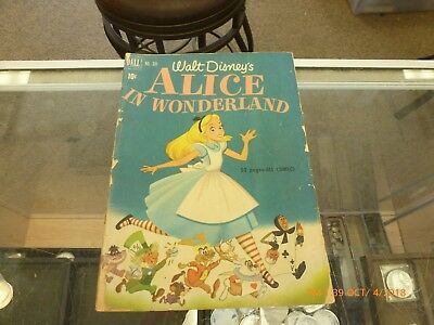 Vintage 1951 Walt Disney's Alice in Wonderland Comic Book Dell No. 331