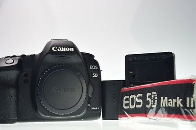 Canon EOS 5D Mark II 21.1MP Digital Camera Body Shutter Count 25589 Excellent