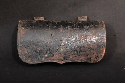 U.S. Civil War Leather & Wood .50/,52 Caliber Carbine Skin Cartridge Box