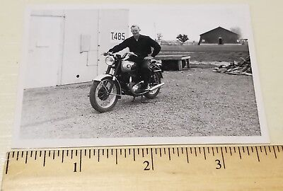 1950's Motorcycle photograph - BSA Motorcycle Pic 1