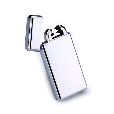 US Stock Dual Arc Electric USB Lighter Rechargeable Plasma Windproof Flameless