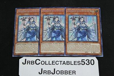 YUGIOH! Priestess with eyes of Blue LCKC-EN016 1st Secret x3