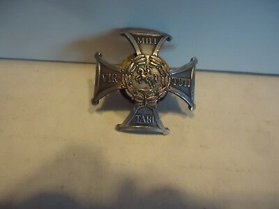 Poland Virtuti Militari  badge screw back vtg military war hat