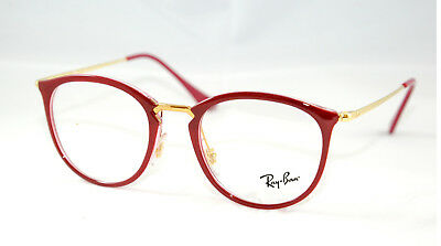 3428712fc42 Spectacles Frame Rayban Rb 7140 Caliber 49 In Celluloid Vintage Style New
