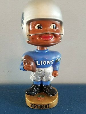 VTG 1960s detroit lions football black face nodder bobbing head doll Japan rare