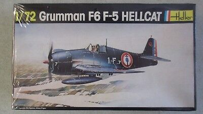 Sealed Heller Grumman F6 F-5 Hellcat 1:72 Scale Model Kit - France