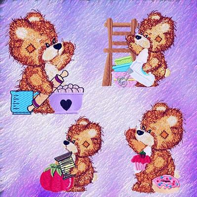 Buddy Bears 24 Machine Embroidery Designs 2 Sets Of