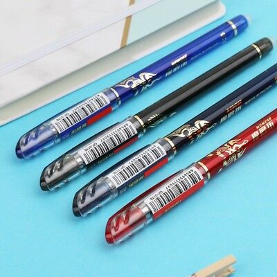 Erasable Gel Pen With Blue Red Black Refills School Office Stationery 0.38mm