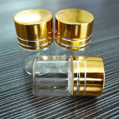 10pcs 22x30mm Tiny Small New Empty Clear 5ml Bottles Glass Vials With Screw Cap
