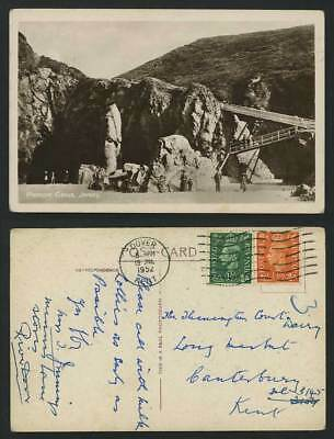 Jersey 1952 Old Real Photo Postcard Plemont Caves Rocks Channel Island