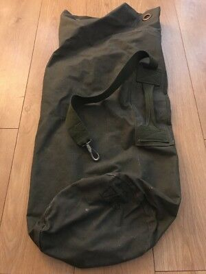 British Army  Genuine Heavy Duty Sausage Kit Bag Military Vintage