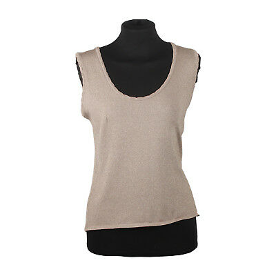 1a8be22535 Authentic M Missoni Metallic Light Weight Knit Sleeveless Top Size 42
