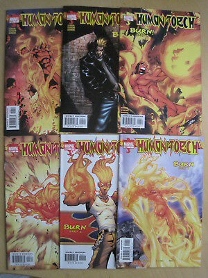 "HUMAN TORCH, 2003 SERIES issues 1,2,3,4,5,6 : ""BURN"", COMPLETE 6 ISSUE STORY"