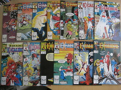 EXCALIBUR, MARVEL 1988 SERIES : issues 1,2,3,4,5,6,7,8,9,10,11,12,13. ALAN DAVIS