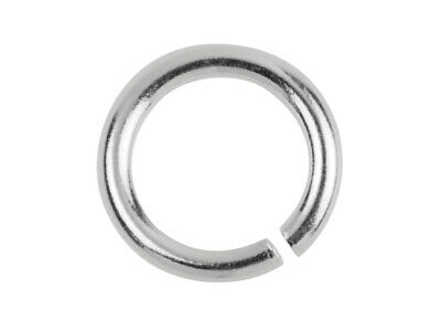 New 925 Sterling Silver heavy jump ring - open - 6mm x 1mm - good quality