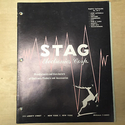 Vtg Stag Electronics Parts Catalog ~ Loop Antennas Switches Condensers 1958