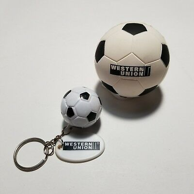 Western Union Promotional Stress Soccer Ball & Key Chain