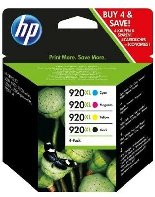 HP 920XL Set 4  Yellow Black Magenta Cyan Ink  Cartridges NEW GENUINE