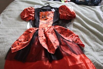 Girls Halloween outfit orange and black 9-10yrs
