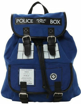 Doctor Who Tardis Buckle Slouch Bag Purse Police Box Dr Who Backpack Rucksack