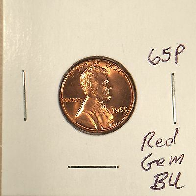 1965 P Lincoln Memorial Cent Red Gem BU