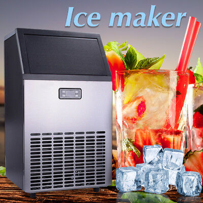 US Commercial Ice Maker Air Cooled Cube Undercounter Freestanding Machine 115V