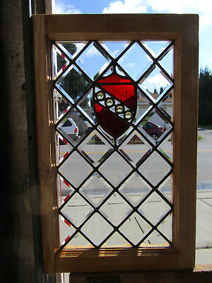 ~ Antique Beveled Jeweled Stained Glass Window ~ 17.5 X 27.5 ~ Salvage